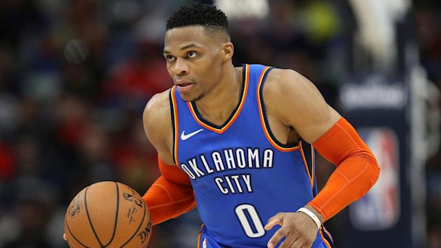 Russell Westbrook posted his 26th triple-double of the season in the Oklahoma City Thunder's victory against the Brooklyn Nets.