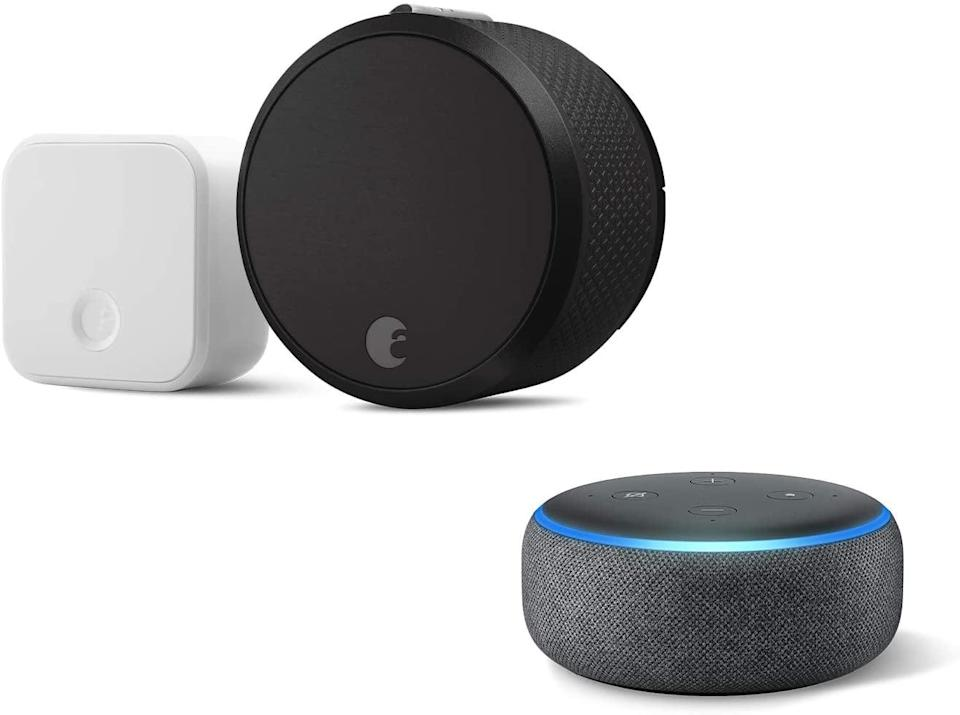 <p><span>August Smart Lock Pro + Connect Bridge With Echo Dot</span> ($155, originally $248)</p>