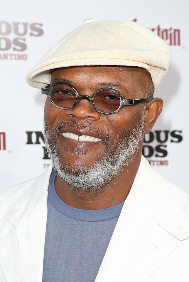 "<a href=""http://movies.yahoo.com/movie/contributor/1800018848"">Samuel L. Jackson</a> at the Los Angeles premiere of <a href=""http://movies.yahoo.com/movie/1808404206/info"">Inglourious Basterds</a> - 08/10/2009"