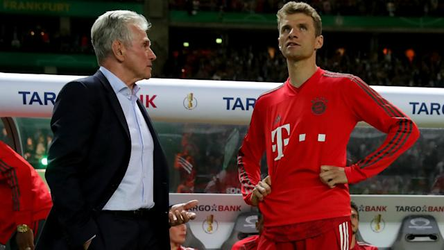 Head coach Jupp Heynckes denied Bayern Munich showed Eintracht Frankfurt a lack of respect by not waiting to see them lift the trophy.
