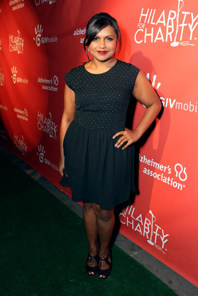 HOLLYWOOD, CA - APRIL 25:  Actress Mindy Kaling attends the Second Annual Hilarity For Charity benefiting The Alzheimer's Association at the Avalon on April 25, 2013 in Hollywood, California.  (Photo by Jeff Vespa/Getty Images for Hilarity for Charity)