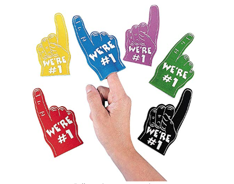"<p>No matter which team your guests are rooting for, these mini foam fingers are a fun way to do it.<br></p><p><a class=""link rapid-noclick-resp"" href=""https://www.amazon.com/Foam-Mini-Fingers-Fun-Express/dp/B0046E8ZLM/ref=sr_1_1?tag=syn-yahoo-20&ascsubtag=%5Bartid%7C10055.g.4949%5Bsrc%7Cyahoo-us"" rel=""nofollow noopener"" target=""_blank"" data-ylk=""slk:SHOP MINI FOAM FINGERS"">SHOP MINI FOAM FINGERS</a></p>"