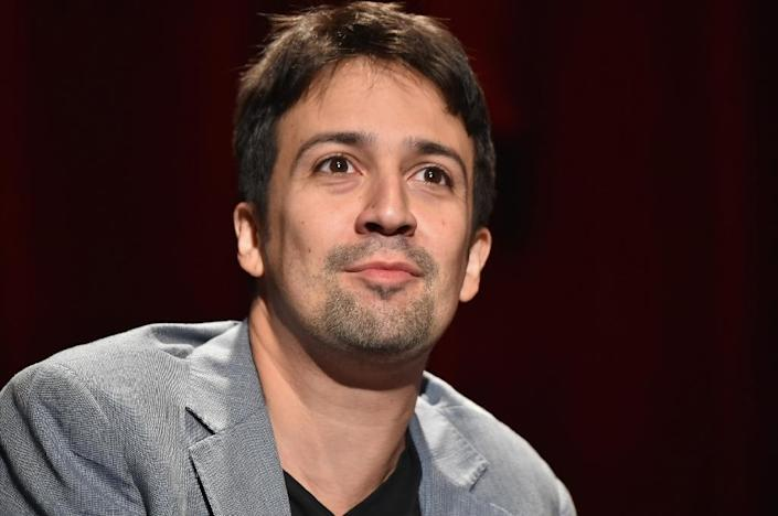 "The ""RiseUp As One"" concert has a board of prominent cultural figures serving as co-chairs including Lin-Manuel Miranda, pictured in August 2016 (AFP Photo/Theo Wargo)"