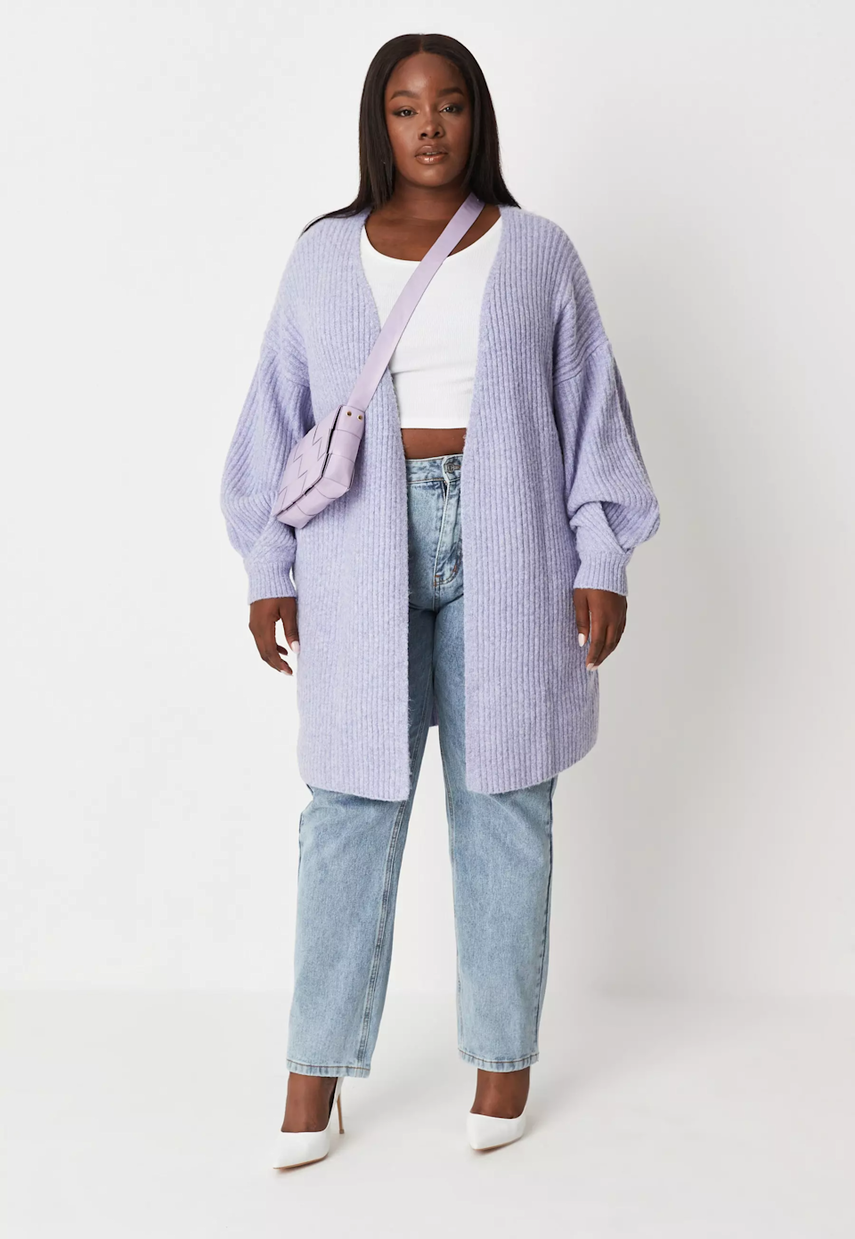 """<br><br><strong>Missguided</strong> Plus Size Lilac Tuck Sleeve Cardigan, $, available at <a href=""""https://go.skimresources.com/?id=30283X879131&url=https%3A%2F%2Fwww.missguidedus.com%2Fplus-size-lilac-tuck-sleeve-knitted-cardigan-10257785"""" rel=""""nofollow noopener"""" target=""""_blank"""" data-ylk=""""slk:Missguided"""" class=""""link rapid-noclick-resp"""">Missguided</a>"""