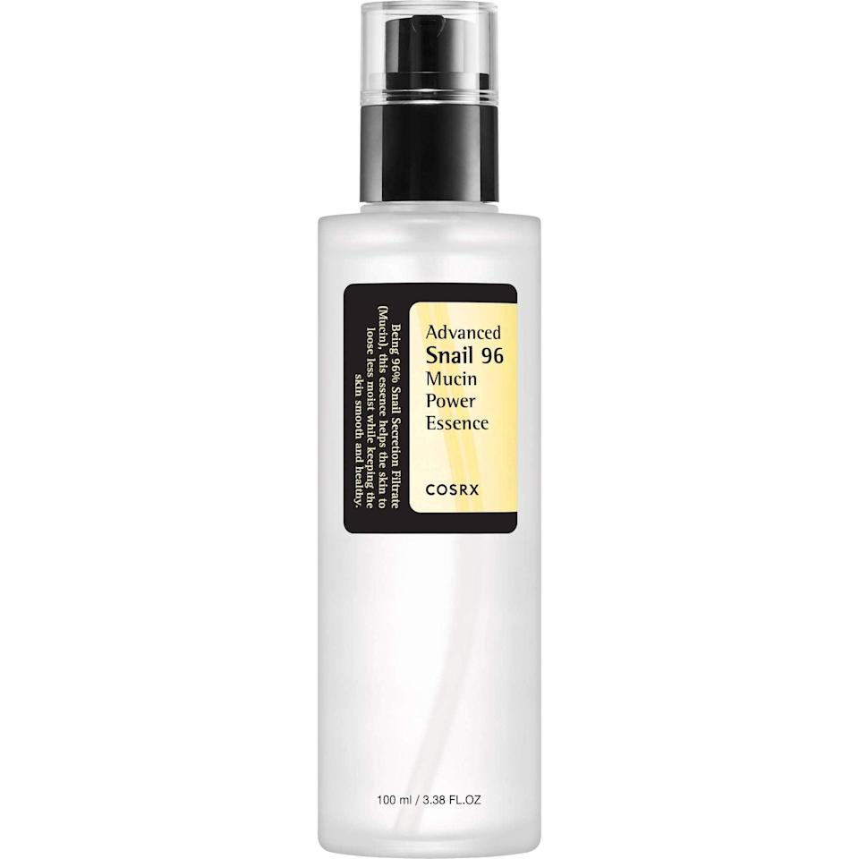 """<h2>10% Off COSRX Advanced Snail 96 Mucin Power Essence</h2><br>""""This product is my moisturizing must-have for all dry and cold winter months. It saves me from the extremely irritating dry patches I get right under my nose. The product's viscous consistency definitely feels snail-like, but I think that's what makes it so moisturizing. Also, don't worry — it smells good."""" <br><br><em>— Alexandra Polk, Associate Deals Writer</em><br><br><strong>CosRx</strong> Advanced Snail 96 Mucin Power Essence, $, available at <a href=""""https://amzn.to/3iWpHOq"""" rel=""""nofollow noopener"""" target=""""_blank"""" data-ylk=""""slk:Wayfair"""" class=""""link rapid-noclick-resp"""">Wayfair</a>"""