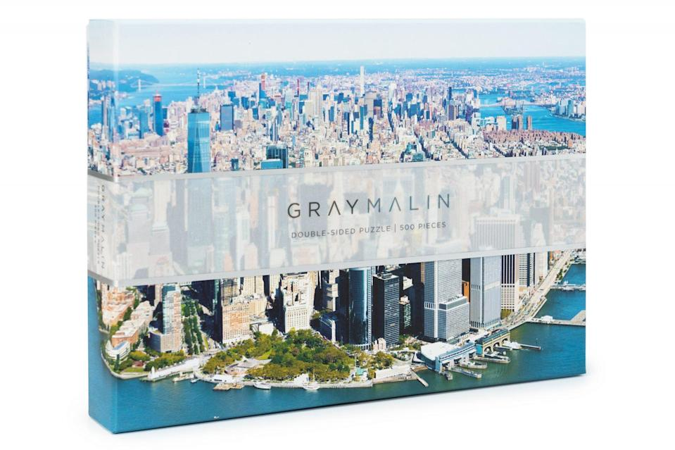 <p>This two-sided puzzle 500-piece puzzle (featuring photographer Gray Malin's aerial shot over Manhattan and Central Park) is perfect for staying entertained on cozy winter nights. </p>