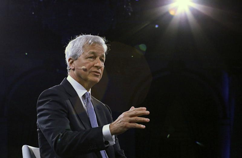 Jamie Dimon, Chairman & CEO of JP Morgan Chase & Co, speaks during the Bloomberg Global Business Forum in New York on September 25, 2019. (Photo by Kena Betancur / AFP) (Photo credit should read KENA BETANCUR/AFP via Getty Images)
