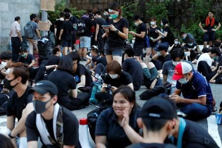Extradition bill protest outside Department of Justice in Hong Kong