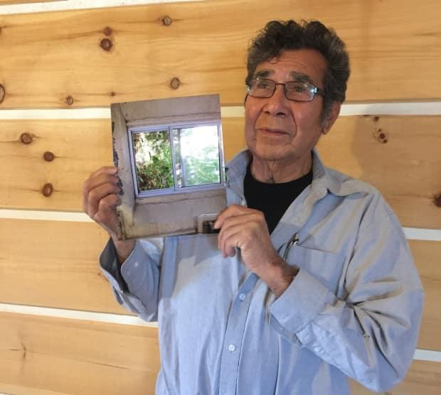 Geronimo Henry, 84, spent 11 years at the Mohawk Institute in Brantford, Ont. He's fundraising to build a memorial wall listing the names of all the students who attended the residential school. (Supplied by Jodie Williams - image credit)