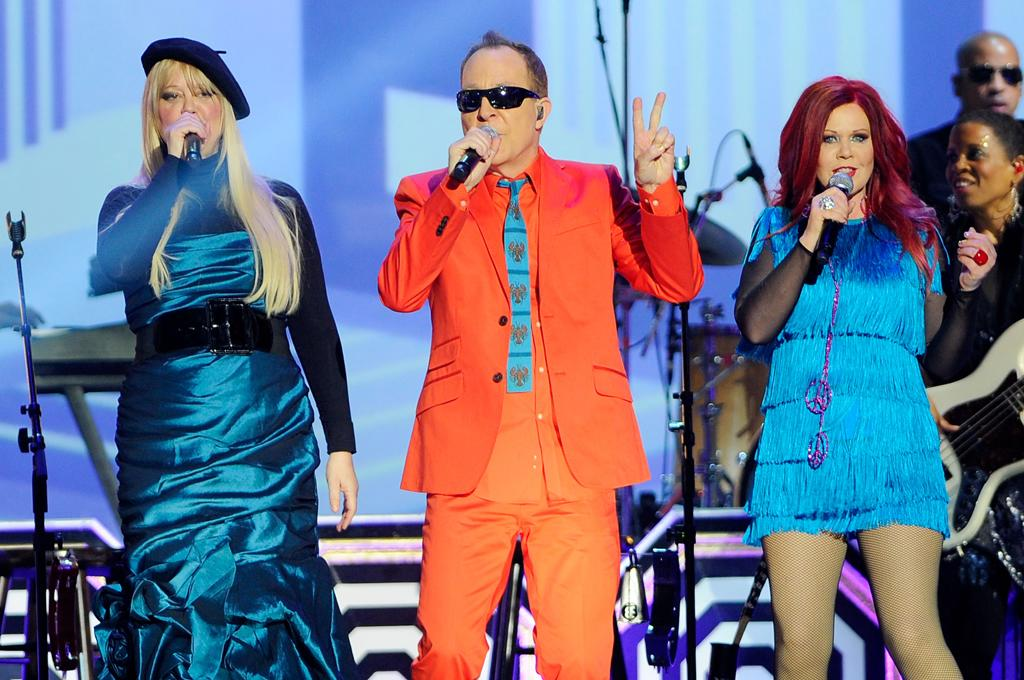 The B-52s perform at the 10th Annual TV Land Awards at the Lexington Avenue Armory on April 14, 2012 in New York City.