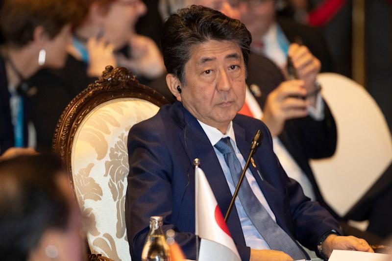Japan's prime minister Shinzo Abe attends the ASEAN-Japan summit in Nonthaburi, Thailand: AP