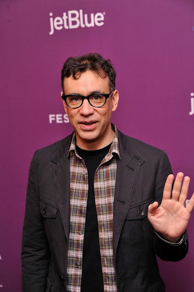 "NEW YORK, NY - APRIL 23:  Actor Fred Armisen attends ""Giant Mechanical Man"" Premiere during the 2012 Tribeca Film Festival at the School of Visual Arts Theater on April 23, 2012 in New York City.  (Photo by Stephen Lovekin/Getty Images)"