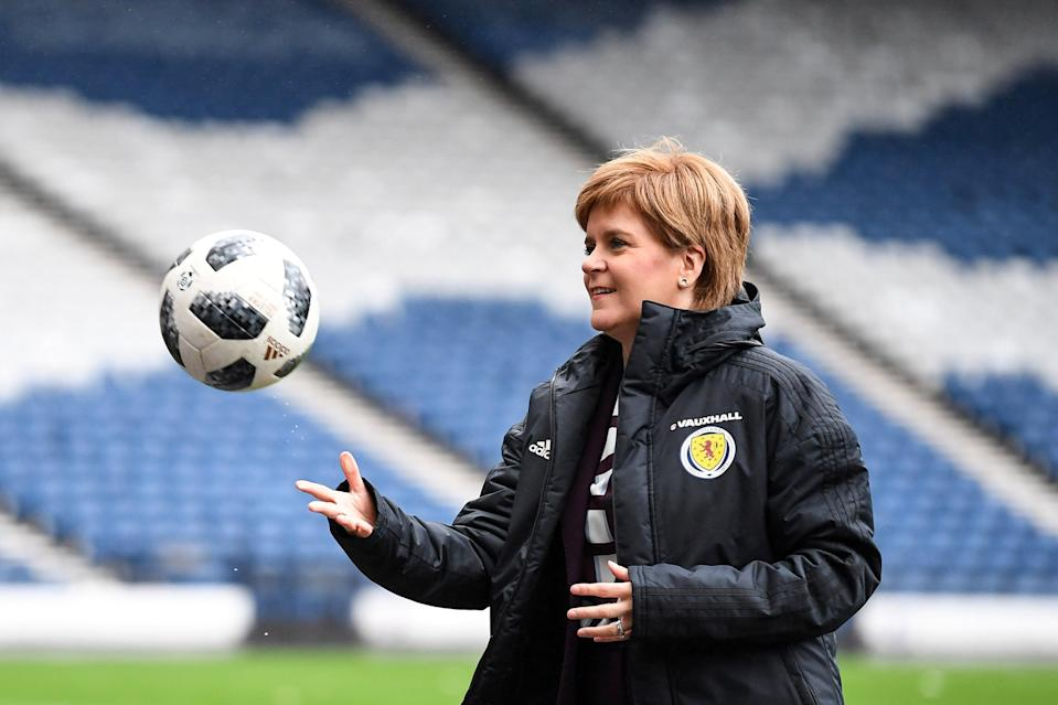 The First Minister at Hampden Park in 2019Getty Images