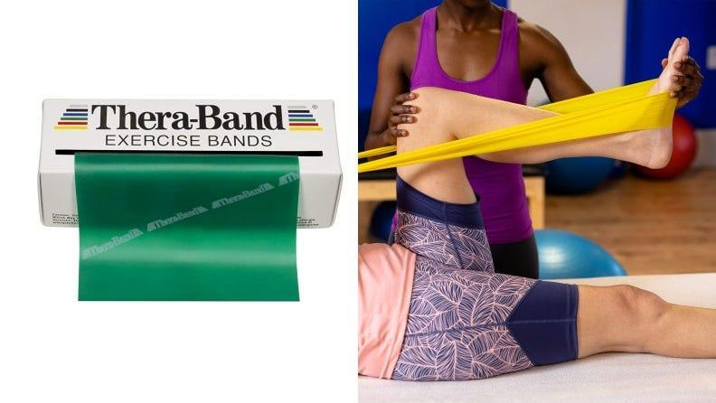 Unlooped bands are common in physical therapists' offices, but you can also use them on their own.