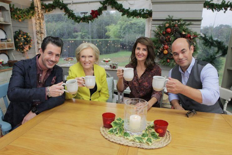 Johnny Luzzini, Mary Berry, Nia Vardalos, and Ian Gomez (Credit: Mark Bourdillion/ABC)