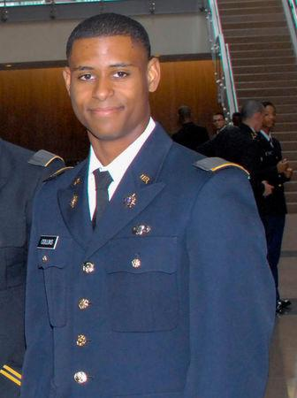 College student Richard Collins III seen at the ROTC (Reserve Officers' Training Corps) Commissioning ceremony at Bowie State University in Bowie, Maryland, U.S., photo received May 23, 2017. Bowie State University/Handout via REUTERS