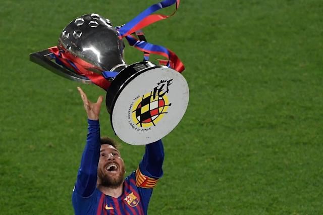 Barcelona are Spanish champions - but which club wants to join them in the Champions League next season? (AFP Photo/LLUIS GENE)