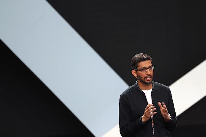 Google CEO Sundar Pichai responded to accusations that the internet giant failed to pay enough taxes in Europe, saying that the company had respected tax laws (AFP Photo/Justin Sullivan)