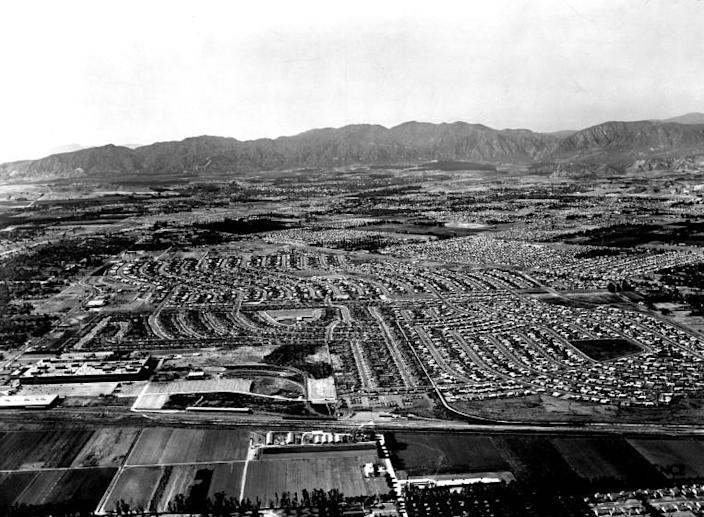 Aerial photograph of the San Fernando Valley in 1953