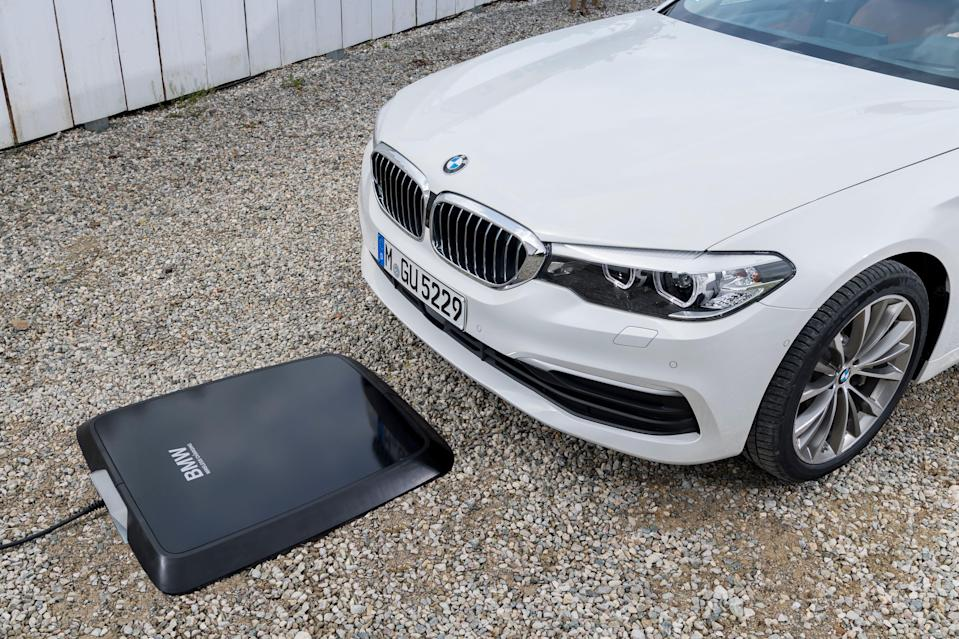 The BMW 530e iPerformance plug-in hybrid will be among the first vehicles available with wireless charging.