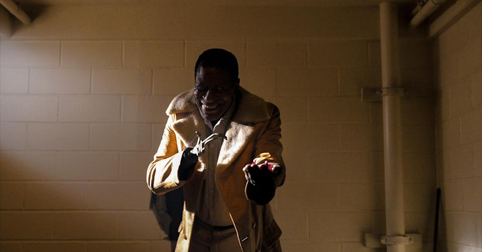 """Sherman Fields (Michael Hargrove) is a hook-handed Chicago man who hands out treats to kids and becomes part of the greater mythology of """"Candyman."""""""