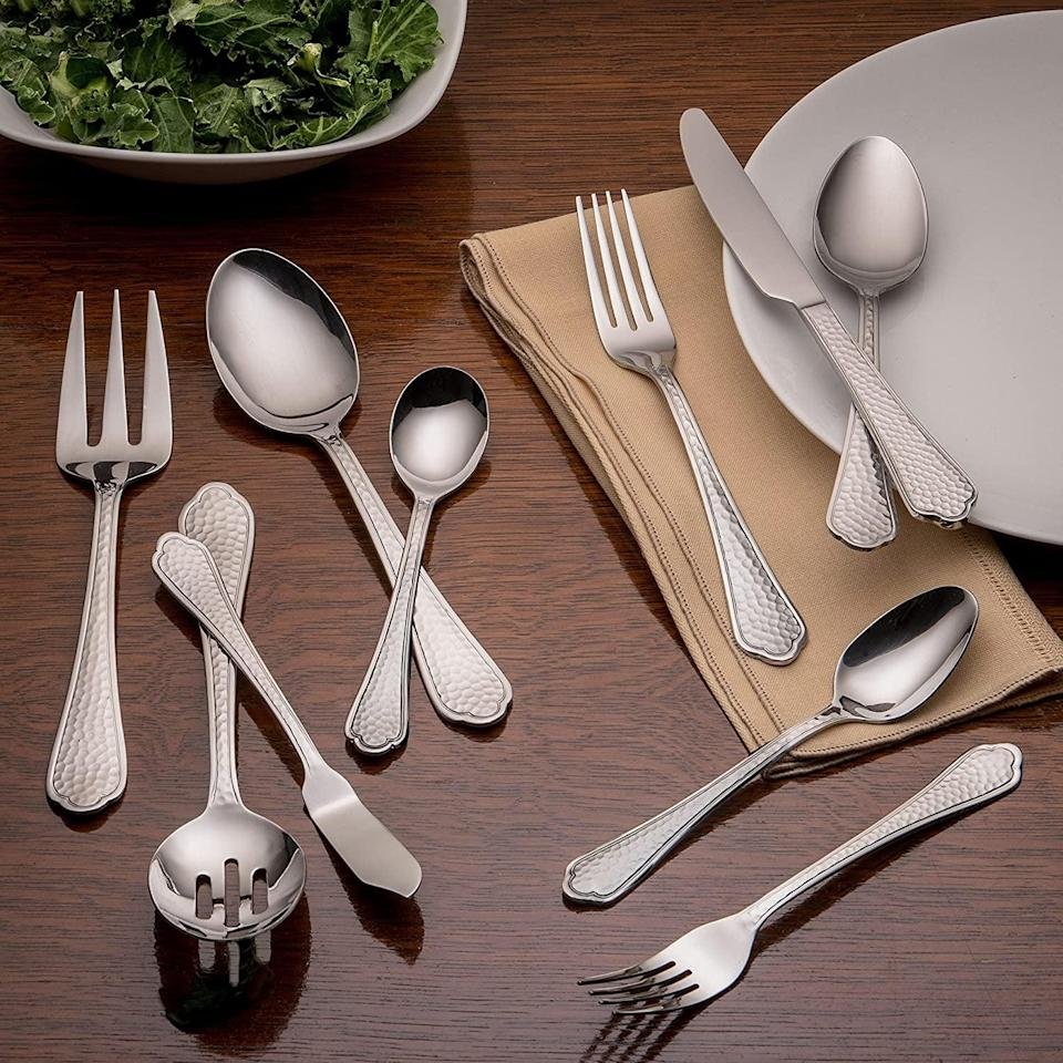<p><span>20-Piece Flatware Silverware Set</span> ($19, originally $25)</p>