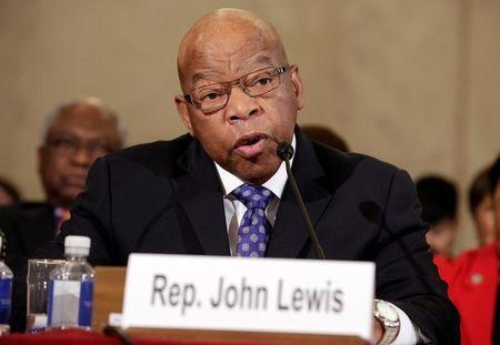 Rep. John Lewis (D-GA) testifies to the Senate Judiciary Committee during the second day of confirmation hearings on Senator Jeff Sessions' (R-AL) nomination to be U.S. attorney general in Washington, U.S., January 11, 2017. REUTERS/Joshua Roberts/File Photo