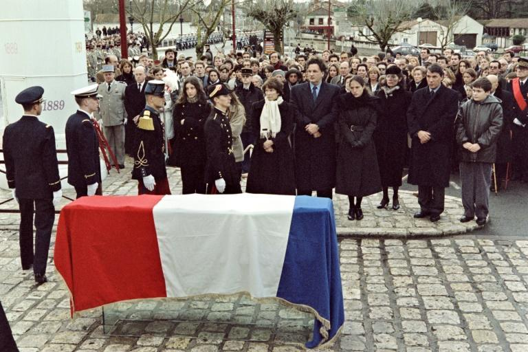 A private ceremony was held for Francois Mitterrand in January 1996