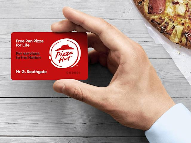 Pizza Hut have prepared a special card for Southgate