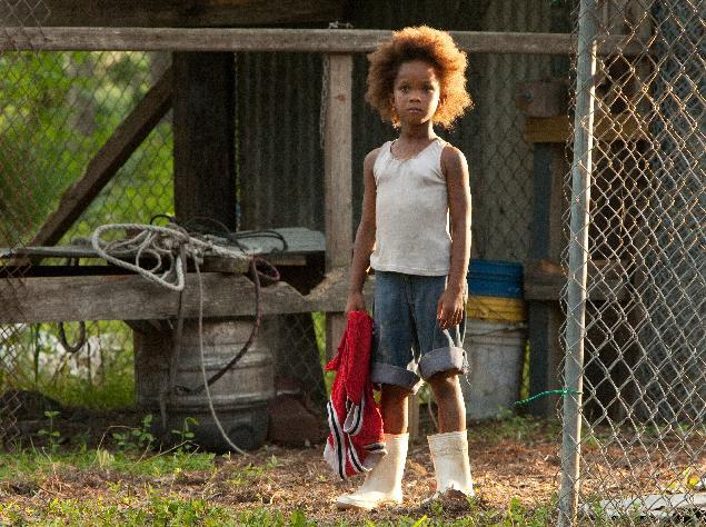 """FILE - This film image released by Fox Searchlight Pictures shows Quvenzhane Wallis portraying Hushpuppy in a scene from, """"Beasts of the Southern Wild."""" Wallis was nominated for an Academy Award for best actress on Thursday, Jan. 10, 2013, for her role in the film. The 85th Academy Awards will air live on Sunday, Feb. 24, 2013 on ABC. (AP Photo/Fox Searchlight Pictures, Mary Cybulski)"""
