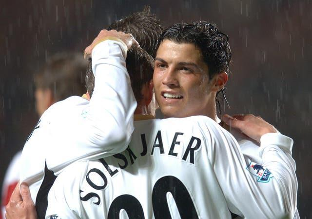 Cristiano Ronaldo was a team-mate of Ole Gunnar Solskjaer in his first spell at United