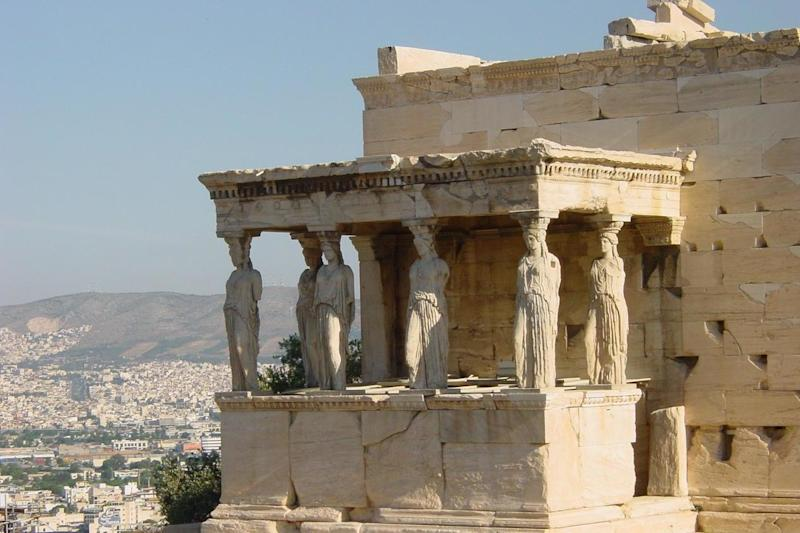 Off limits: Part of the Acropolis in Athens: Simon Calder