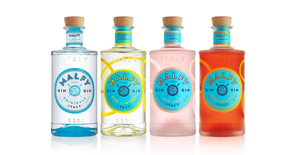 """<p>Offering a taste of the Amalfi Coast, <a href=""""https://www.malfygin.com/"""" rel=""""nofollow noopener"""" target=""""_blank"""" data-ylk=""""slk:Malfy"""" class=""""link rapid-noclick-resp"""">Malfy</a> uses fine Italian ingredients – including Tuscan juniper, coastal-grown lemons and rhubarb, and Sicilian blood oranges and pink grapefruits – to create its refreshing gins. Delicious both in a cocktail or simply paired with soda and lemon, they make an ideal warm-weather drink. BT</p><p>£19.49 for a set of four 50ml bottles, <a href=""""https://www.amazon.co.uk/Malfy-20007-Gin-Range-4x50ML/dp/B07F86RN9C/ref=sr_1_2?dchild=1&qid=1593189382&refinements=p_89%3AMalfy&s=alcohol&sr=1-2"""" rel=""""nofollow noopener"""" target=""""_blank"""" data-ylk=""""slk:Amazon"""" class=""""link rapid-noclick-resp"""">Amazon</a>.<br></p>"""