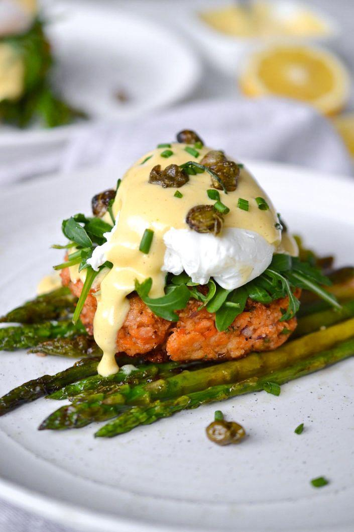 """<p>Calling all brunch lovers: This meal (made with canned salmon) provides tons of omega-3s, satisfies your egg craving, and packs in tons of plants. You have to try it.</p><p><a href=""""https://www.everylastbite.com/2019/04/16/salmon-cake-eggs-benedict/"""" rel=""""nofollow noopener"""" target=""""_blank"""" data-ylk=""""slk:Get the recipe from Every Last Bite »"""" class=""""link rapid-noclick-resp""""><strong><em>Get the recipe from Every Last Bite »</em></strong></a></p>"""