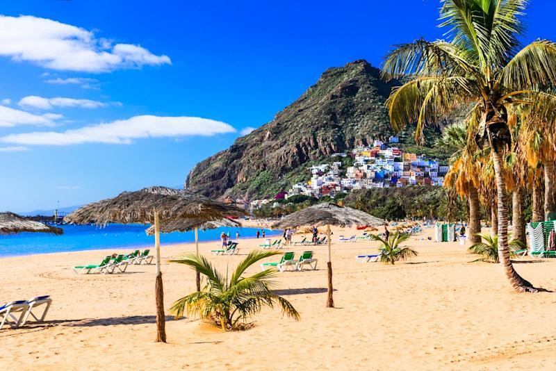 Head for Tenerife in March: Getty