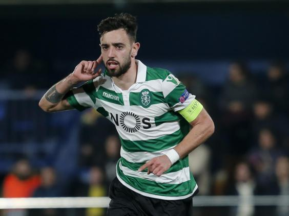 Bruno Fernandes' transfer saga rumbles on (Getty)