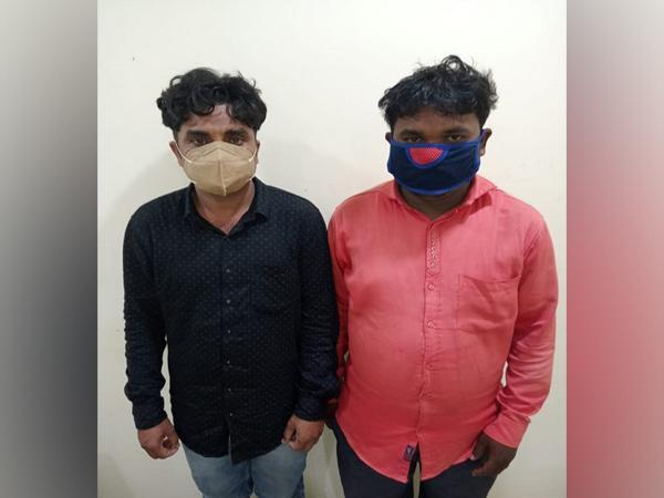 Both the accused were held for allegedly selling a pangolin. (Photo/ANI)