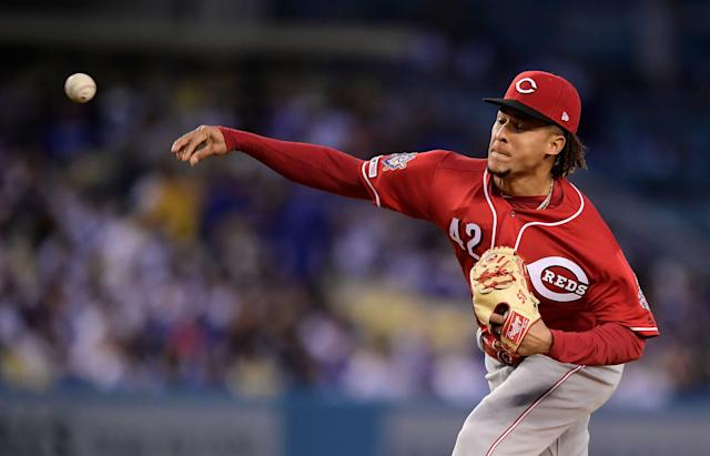 Cincinnati Reds starting pitcher Luis Castillo is fast emerging as an ace. (AP Photo)