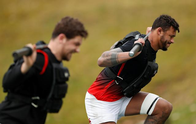 Rugby Union - England Training - Pennyhill Park, Bagshot, Britain - February 22, 2018 England's Courtney Lawes during training Action Images via Reuters/Andrew Boyers