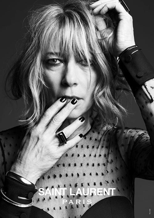 "Kim Gordon<p><a target=""_blank"" href=""http://www.dazeddigital.com/fashion/gallery/15800/2/saint-laurent-music-project"">See more at Dazed Digital</a></p>"