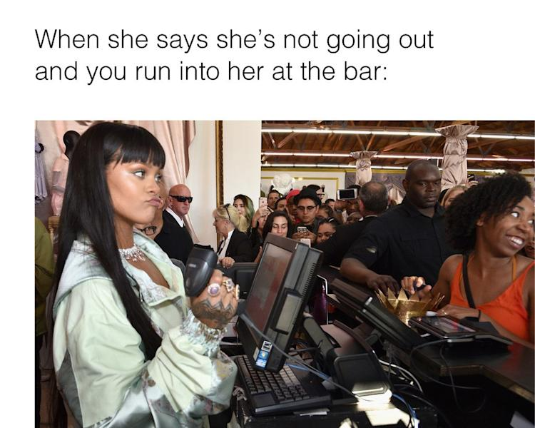 Rihanna attended a FENTY x PUMA event in Los Angeles, and the photos are so good. Here is your new meme for whenever you want to talk about receipts.