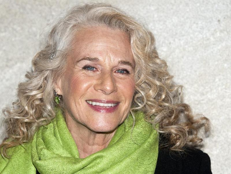 FILE - In this Nov. 30, 2011 file photo, singer-musician Carole King is seen in New York.  President Barack Obama is putting on a show at the White House next week for King. She is the first woman to receive the Gershwin Prize for Popular Song from the Library of Congress. The White House says Obama will present the award to King during a concert Wednesday.  (AP Photo/Charles Sykes, File)