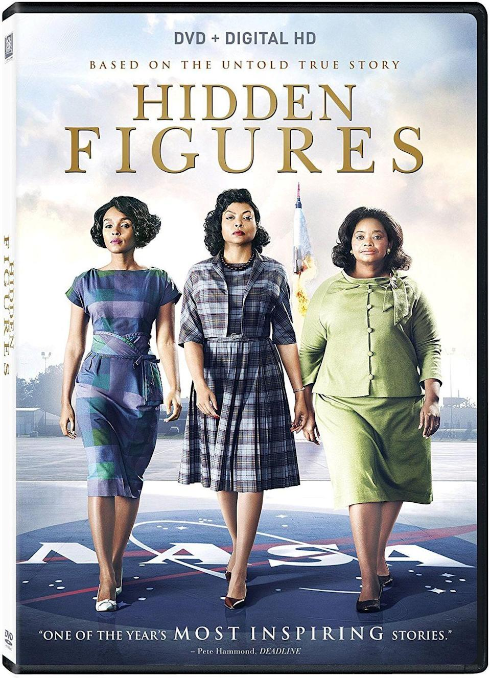 """<p><a class=""""link rapid-noclick-resp"""" href=""""https://www.amazon.com/Hidden-Figures-Taraji-P-Henson/dp/B01LTI1RHG/?tag=syn-yahoo-20&ascsubtag=%5Bartid%7C10067.g.15907978%5Bsrc%7Cyahoo-us"""" rel=""""nofollow noopener"""" target=""""_blank"""" data-ylk=""""slk:Watch Now"""">Watch Now</a> </p><p>Katherine Johnson, Dorothy Vaughan, and Mary Jackson fight widespread, systematic discrimination to continue their work as human computers at NASA in the 1960s, playing a vital—and previously unsung—role in the effort to send astronauts into space.<br></p>"""