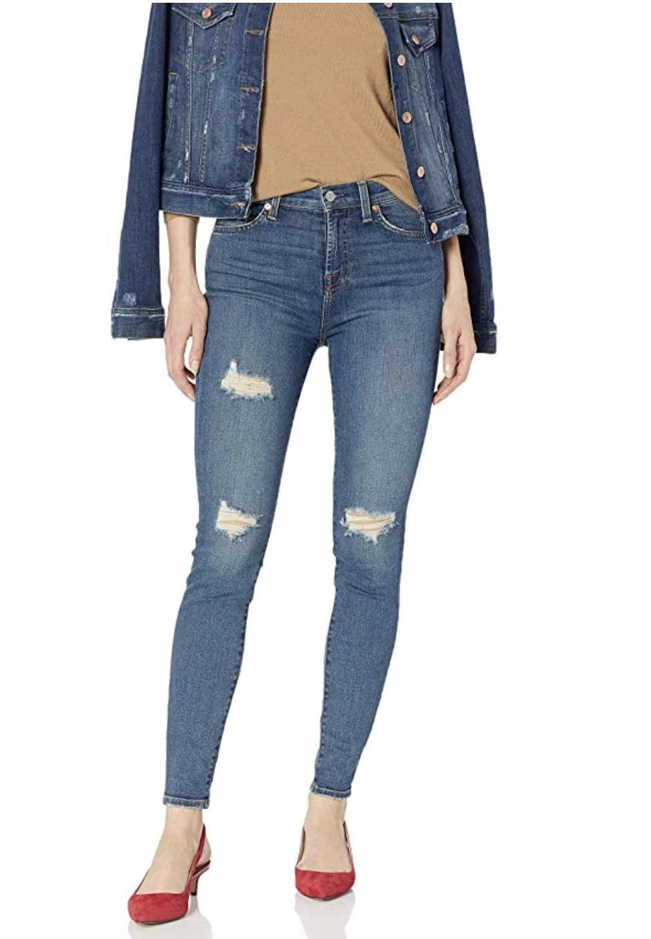 <p>We can't refuse these distressed <span>7 For All Mankind Destroyed Ankle Skinny High Rise Jeans</span> ($30 - $201).</p>