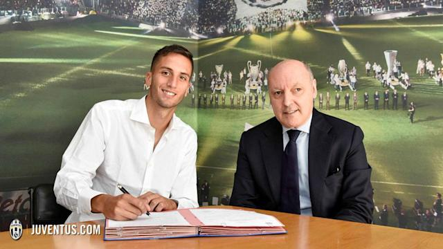 The 19-year-old has signed a five-year contract with the Serie A champions having undergone a medical earlier this month