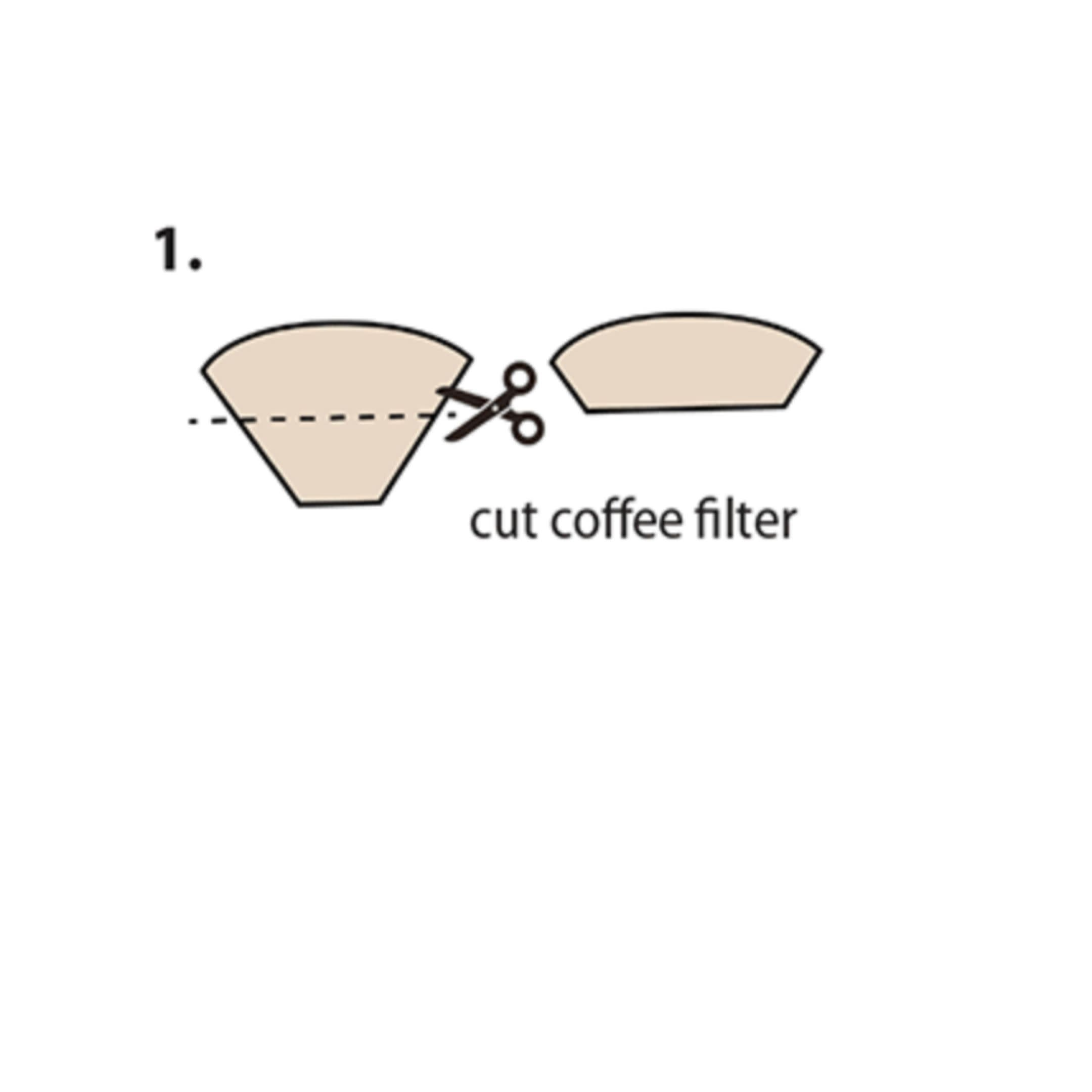 Image via CDC. How to make your own CDC approved coffee filter non-medical mask.
