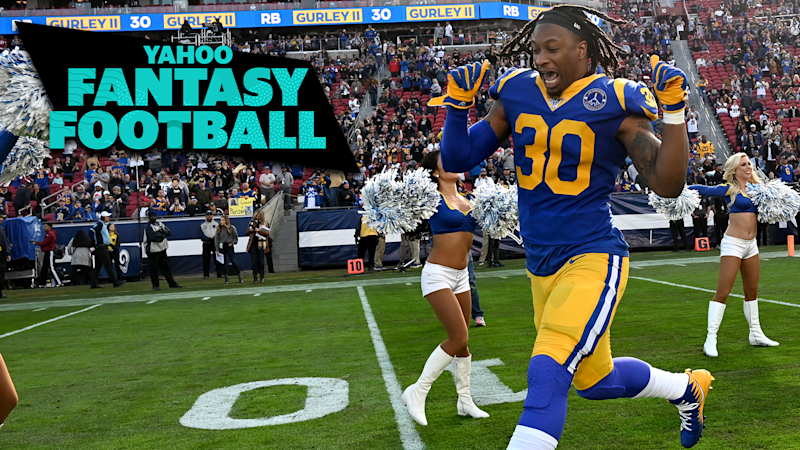 LOS ANGELES, CA - DECEMBER 29: Running back Todd Gurley #30 of the Los Angeles Rams runs on to the field for the game against the Arizona Cardinals at the Los Angeles Memorial Coliseum on December 29, 2019 in Los Angeles, California. Todd Gurley was released by the Rams this week. (Photo by Jayne Kamin-Oncea/Getty Images)