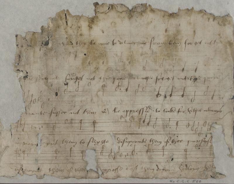 The manuscript shows words written by Katherine Parr to music by Thomas Tallis, an academic has claimed