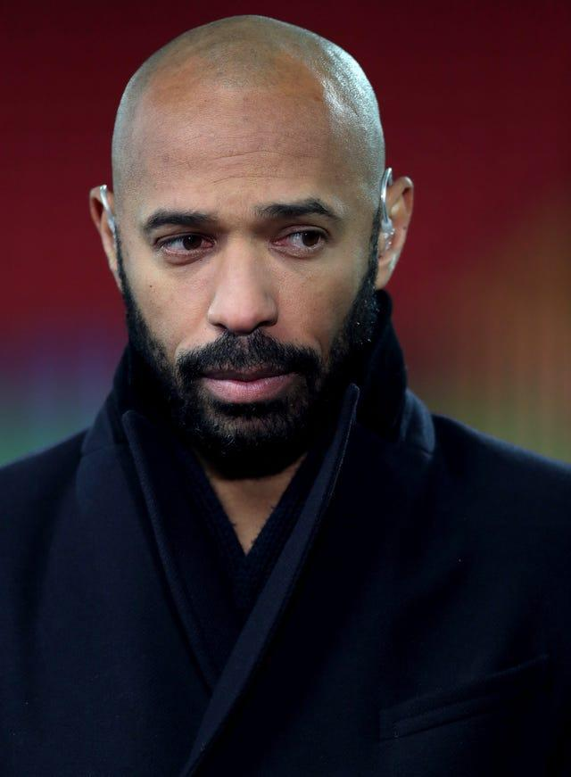 """Thierry Henry has described current levels of racism and bullying on online platforms as """"too toxic to ignore"""" (Richard Sellers/PA)."""