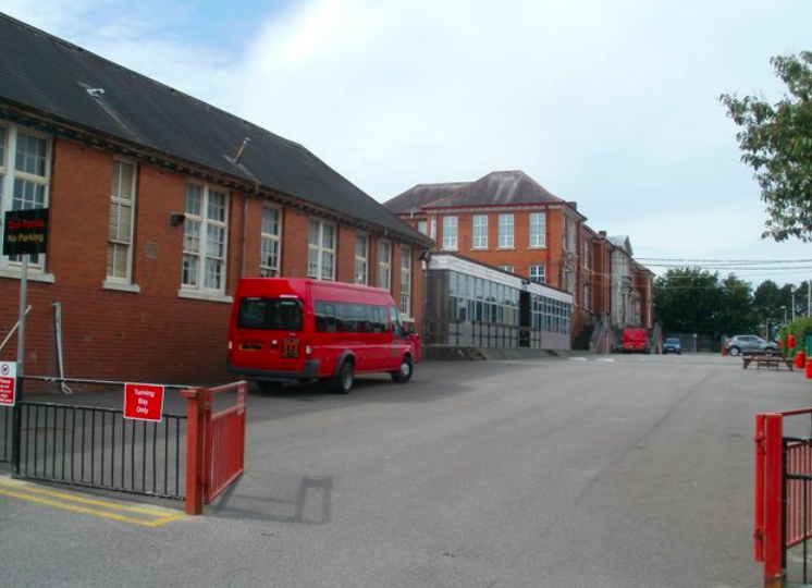 St Martin's School in Caerphilly won't allow pupils to wear skirts as part of the uniform when they return next term. (Geograph)